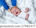 Portrait of cute adorable newborn baby child 27982477