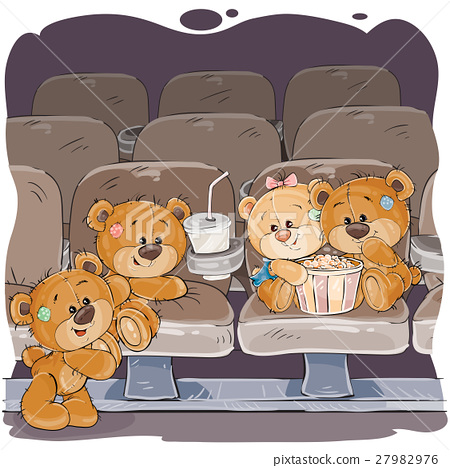 Teddy bears are watching a movie 27982976