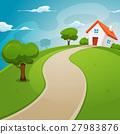 House Inside Green Fields 27983876