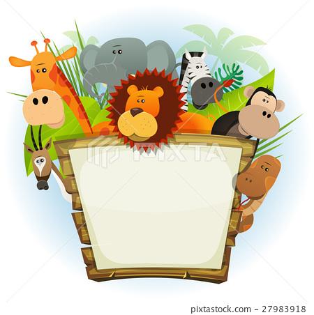 Wild Animals Zoo Wood Sign 27983918