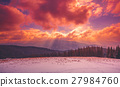 Amazing evening winter landscape 27984760