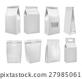 Realistic take away food box mock up set 27985061