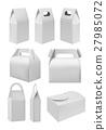 Realistic take away food box mock up set 27985072