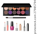 makeup, vector, mascara 27985794