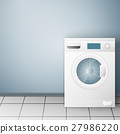 Wash machine on light background 27986220