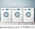 Wash machines on light background 27986223