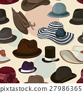 Vector set of man and woman hats pattern 27986365