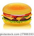 burger, hamburger, beef 27986393