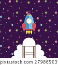 Space Exploration Cartoon Style Vector Concept 27986503