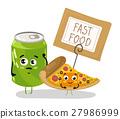 pizza vector soda 27986999