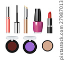 Realistic makeup cosmetics vector set 27987013