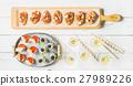 Brushettas, gazpacho shots, desserts, champagne 27989226