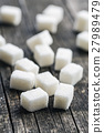 White sugar cubes. 27989479