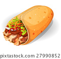 Mexican Burrito Icon 27990852