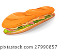 Classic Ham And Butter French Sandwich Icon 27990857