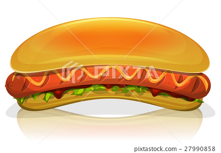 Hot Dog Burger Icon 27990858