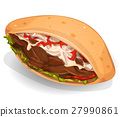 Kebab Sandwich Icon 27990861
