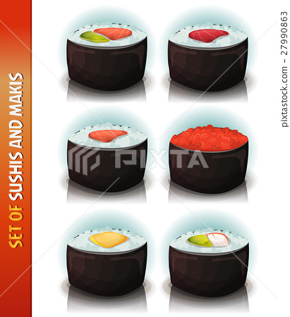 Asian Sushis And Makis Set 27990863