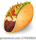 Mexican Tacos Icon 27990869