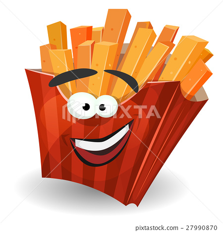 French Fries Mascot Character 27990870