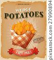 Grunge And Vintage Wedge Potatoes Poster 27990894
