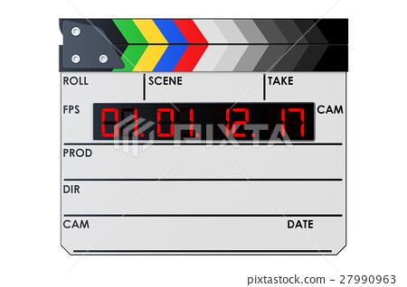 Digital movie clapper board, clapperboard 27990963