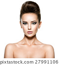 Young beautiful  woman with stylish hairstyle 27991106