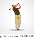 高爾夫 高爾夫球手 向量 27991930