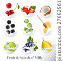 fruit milk blackberry 27992561