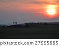 日落 夕阳 飞机 27995995