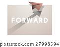 Paper Plane Icon Mission Concept 27998594