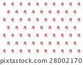 Rose pattern red 28002170