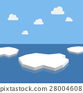 Ice floes in the sea 28004608