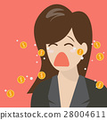 Woman crying out in money tears 28004611