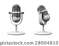 Vintage silver microphone isolated 28004810