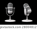 Vintage silver microphone isolated 28004812