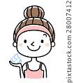成熟的女人 一個年輕成年女性 女生 28007412