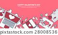 valentine, message, laptop 28008536