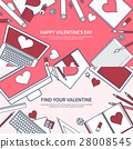 valentine, message, laptop 28008545