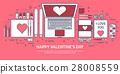 valentine, message, laptop 28008559