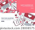 valentine, message, laptop 28008575