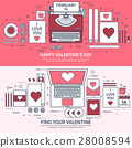 valentine, message, laptop 28008594