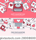 valentine, message, laptop 28008600