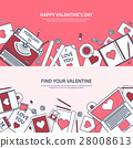 valentine, message, laptop 28008613