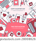 valentine, message, laptop 28008626