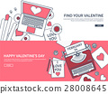 valentine, message, laptop 28008645
