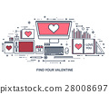 love, message, laptop 28008697