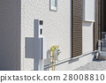 신축 주택의 기능 문 기둥 28008810