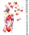 kimono, maple, yellow leafe 28009838