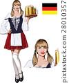 girl, bavaria, drink 28010357